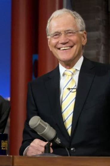 Much-loved host: David Letterman.