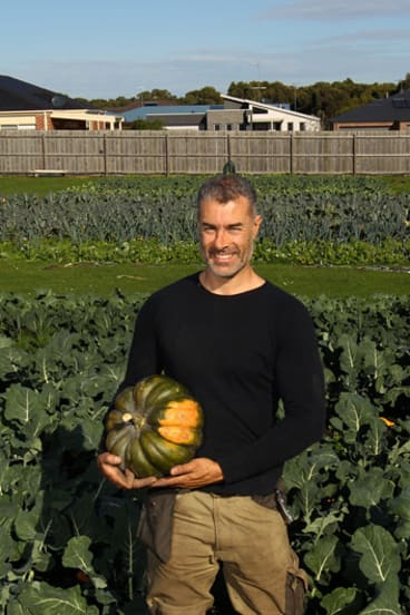 Joseph Aiello in his market garden at Inverloch. His business is called Jjaras Farm Gate, and specialises in home-made, traditional and organic produce.