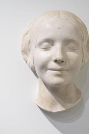 Death mask: L'Inconnue de la Seine attracts interest because of her beatific smile.