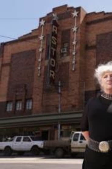 Friends of the Astor president Vanda Hamilton and Palace Cinema boss Benjamin Zeccola. They hope they have found a way to save the Astor at last.