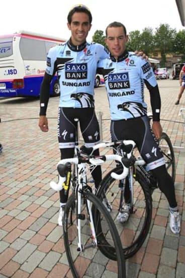Alberto Contador and Richie Porte.