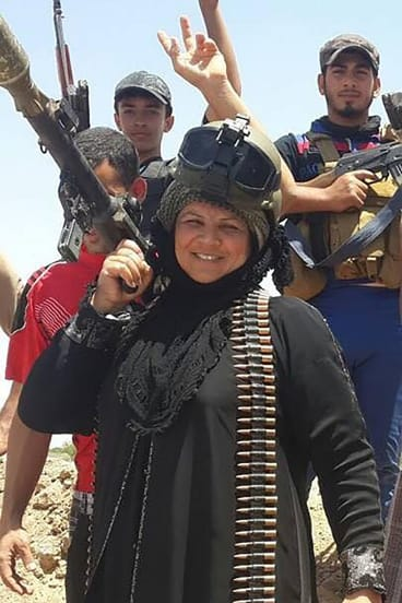 Omaya al-Juburi, sister of Sheikh Marwan al-Juburi, who died fighting Islamic State on June 22.