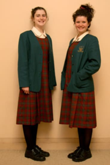 Sophie McKeown, 12 and her sister, Jessica, 15, attend Our Lady of Mercy College, Parramatta.