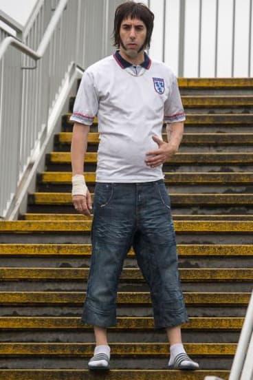 Controversial: Sacha Baron Cohen films <i>Grimsby</i> in Essex.