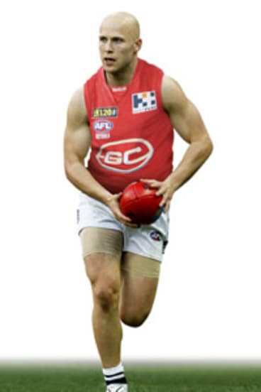 How Gary Ablett Jr could possibly look in a Gold Coast guernsey.