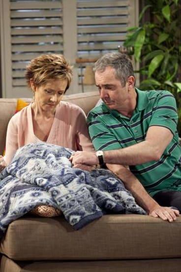 Duo: <i>Neighbours</i> stars Jackie Woodburne and Alan Fletcher.