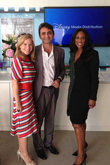 <i>Desperate 'Nigerian' Housewives</i> ... Disney's Katherine Powell and Giovanni Mastrangelo, with Mo Abudu, CEO and executive chairman of EbonyLife TV.