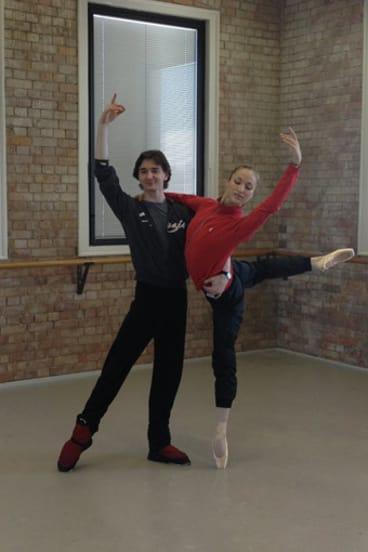 Bolshoi Ballet principal dancers Vladislav Lantratov and Ekaterina Shipulina.
