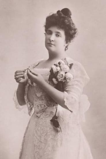 In her youthful years ... Dame Nellie Melba.