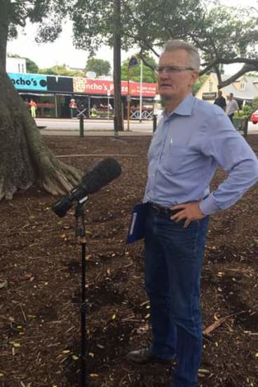 Bill Glasson announces he will stand for the federal seat of Griffith in Bulimba on Sunday afternoon.