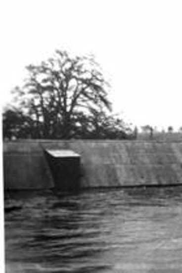DISASTER: The 1922 flood after the river broke its banks. The roof of the Elmsall Inn can be seen just above the water level. Photo: Queanbeyan and District Historical Museum Society