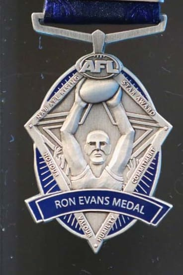 The Ron Evans Medal awarded to the NAB AFL Rising Star.
