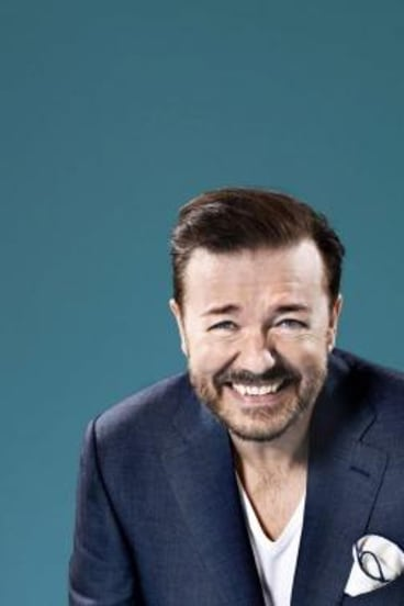 Brit funnyman: Ricky Gervais will write and direct as well as co-star in <i>Special Correspondents</i>, a remake of a 2009 French comedy.