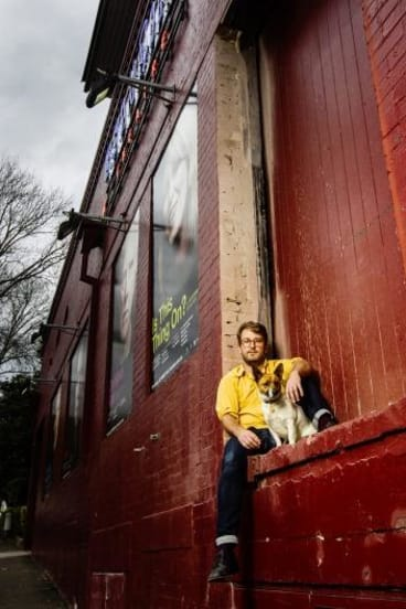Dogged determination: Ralph Myers, Belvoir St Theatre's artistic director, with his dog Lucky.