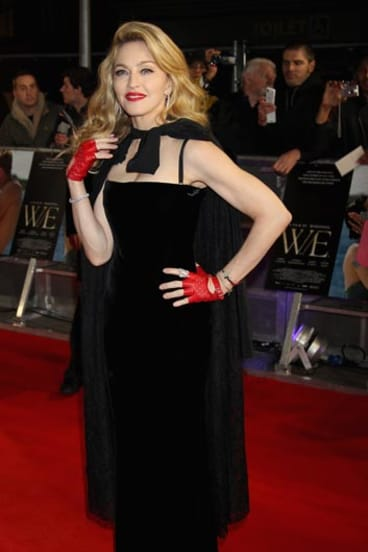 Madonna in London in January.