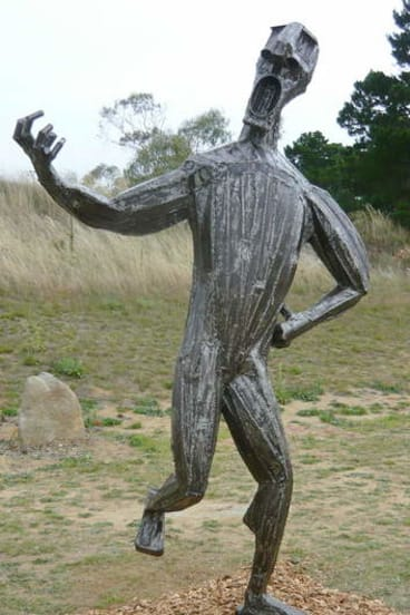 Jesse Graham's Song and Dance, installed at Jindabyne.