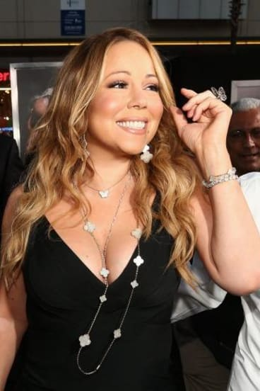 World tour woes? Mariah Carey appears to sound off key.