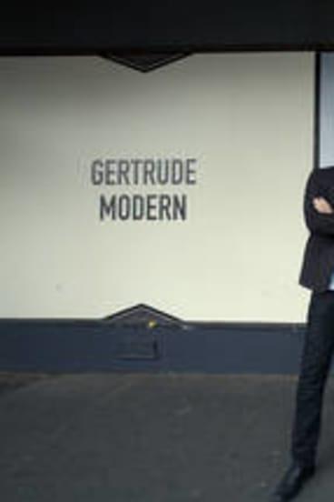 Artists Dorian Farr (L) and Ash Keating.