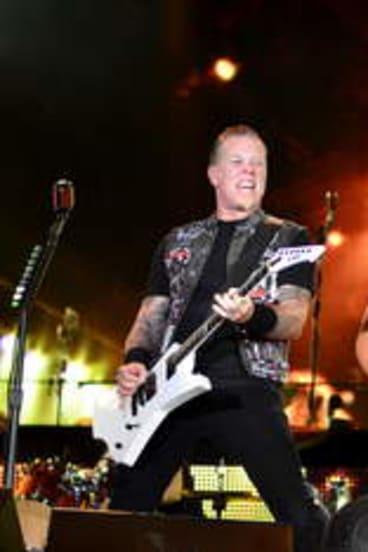 Monster jam: James Hetfield and Kirk Hammett.