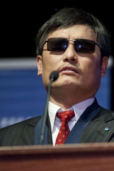 Chinese activist lawyer Chen Guangcheng