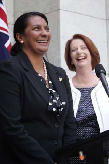 Prime Minister Julia Gillard and Nova Peris
