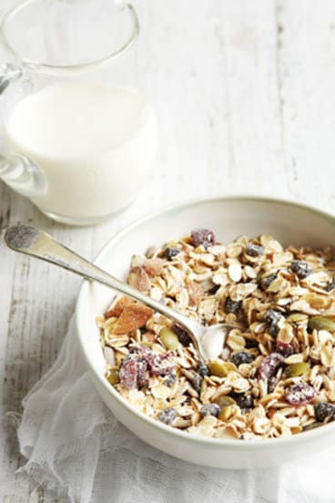 """""""I am fed up with muesli that is full of dried fruit smothered in sulphur dioxide and dusty stuff. Muesli should be 100 per cent wholegrains, nuts, seeds and berries."""""""