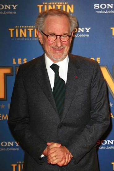Steven Spielberg poses in Paris last month prior to the premiere of the The Adventures of Tintin: Secret of the Unicorn.