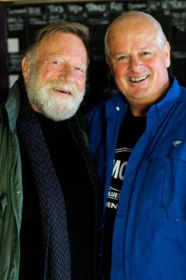 Chris Dockrill with friend and patron Jack Thompson.