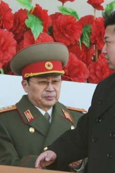 North Korean leader Kim Jong-un and his uncle Jang Song-thaek in 2012.