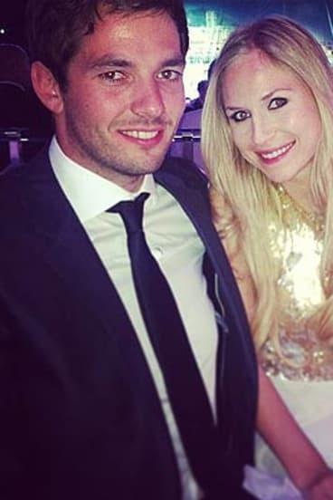 Sean Edwards, with girlfriend Laura.