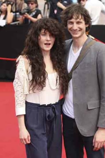 Gotye (right) arrives at the ARIA awards in Sydney.