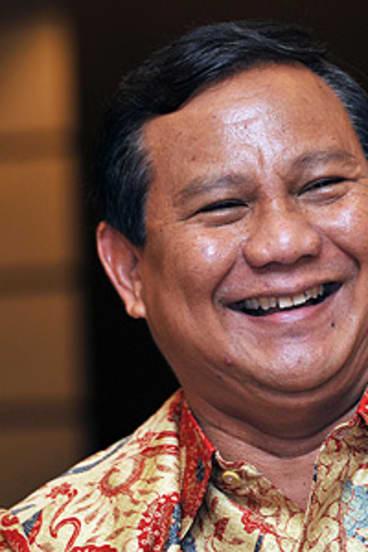 Prabowo Subianto ...   deflecting human rights concerns.