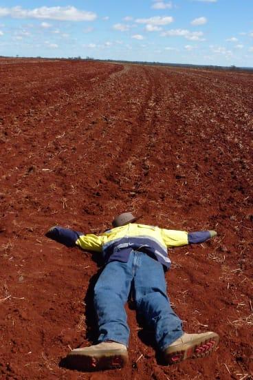 Despair: Joe, lost in the bush in UAV Outback Challenge