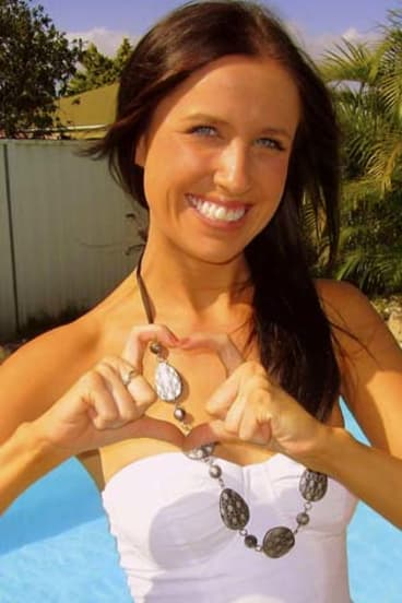 Tragedy: Nicole Fitzsimons, was killed in a motorbike accident in Thailand.