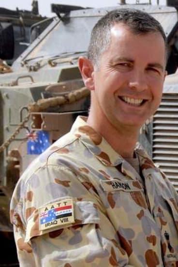 Jeremy Hanson in Iraq.