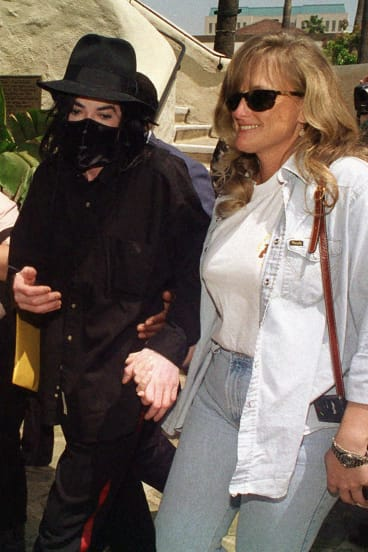 Michael Jackson pictured in 1996 with his then wife Debbie Rowe.