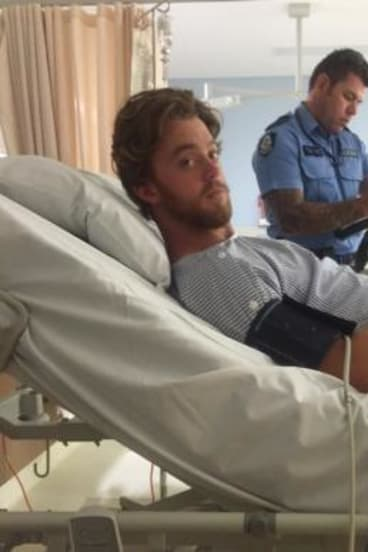 Nick Gardner literally shot himself in the foot... at a mate's farm.