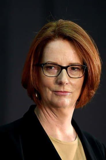 Julia Gillard … taking a hard line on self-harming asylum seekers.