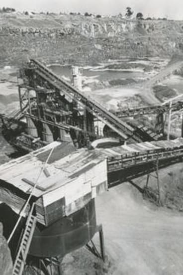 The Newport quarry in 1974.
