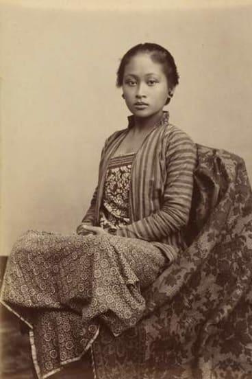 """Native-born"" Javanese photographer Kassian Cephas' <i>Young Javanese woman</i>."