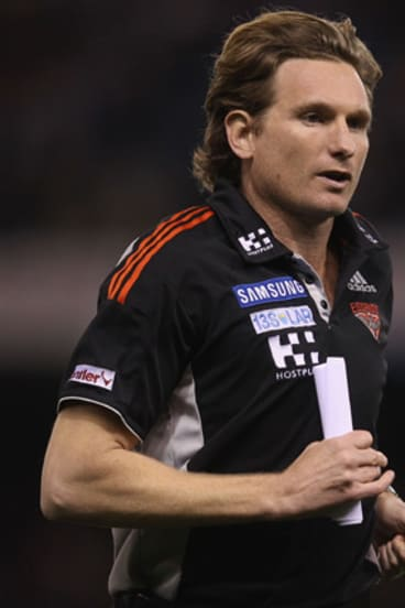 James Hird.. delighted his team was able to withstand the inevitable Geelong fightback.