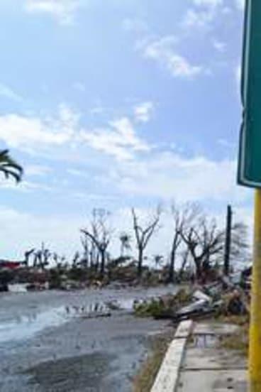 Tacloban City, Leyte, Philippines, after Typhoon Haiyan.