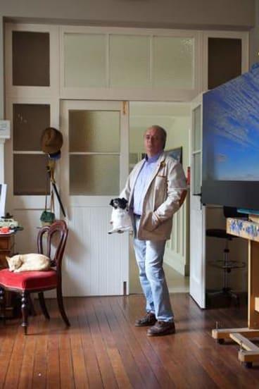 Tim Storrier in his home studio.