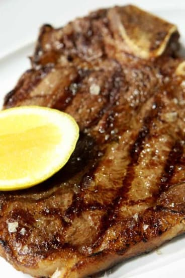 The one dish you must try ... Sher F1 Wagyu 400-day fed (marble score 7) 500g T-bone, $79.
