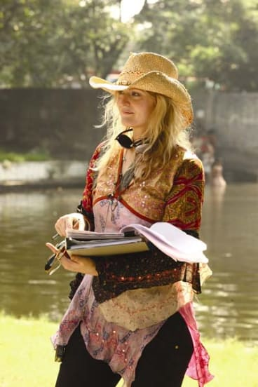 Writer and director Claire McCarthy on location in India.