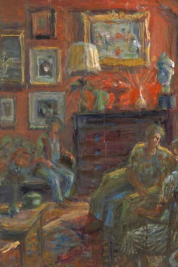 Domestic detail ... <i>Sitting Room and Three Figures</i> by Margaret Olley.
