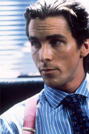 Christian Bale as Patrick Bateman in the movie of <I>American Psycho</i>.