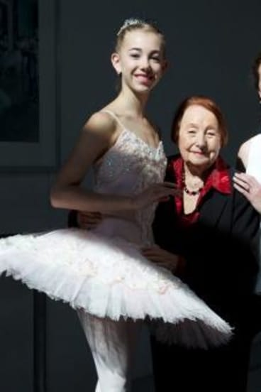 Across generations: Vida Polakov, Tanya Pearson and Lucinda Dunn.