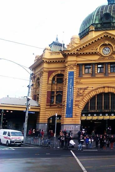 Flinder Street station.