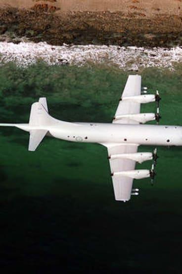 A P-3 Orion aircraft.